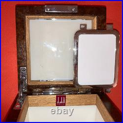 BNIB Alfred Dunhill Humidor Amboyna Orig Box & Bag as purchased in Paris 1974