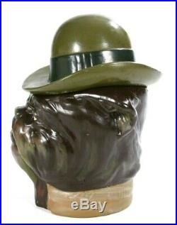 Bulldog Cigar Jar Humidor Ceramic By White Ash Collections #1443 Original Box