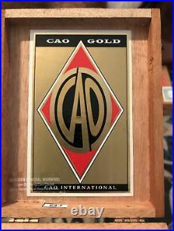 CAO Gold Robusto. The Sopranos Edition. Cigar box/Humidor. Excellent Condi