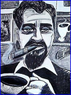 CIGAR ART PRINT poster coffee mug humidor box cuban ashtray tobacco bands havana