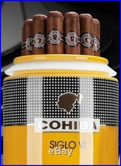 COHIBA Ceramics Seal Cigar Tube Bone Cylinder Cigar Humidor Case With Gift Box