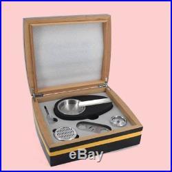 COHIBA Cigar Box Case 30 Count Humidor Ashtray Cutter Hygrometer Cedar Wood Set