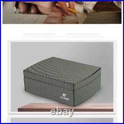 COHIBA Cigar Case Humidor Travel Cedar Wood cigar box With Humidier & Hygrometer