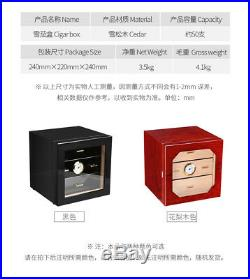 COHIBA Cigarette Box Cabinet Cedar Piano Humidor 3 Drawers with Hygrometer