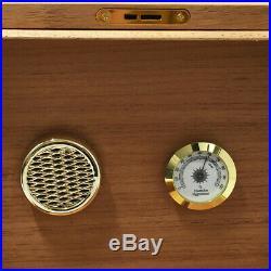 COHIBA Yellow Gloss Cedar Wood Cigars Case Box Large Sigaren Cigar Humidor Box