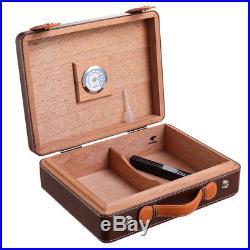 Cedar Wood Moisturizing portable Cigar Humidor case box for COHIBA CA-0016