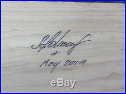 Cigar Box Humidor Exotic Woods Padak & Mable 15long x 10wide x 7.5tall Signed