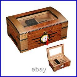 Cigar Humidor Box Case Cabinet With Humidifier Hygrometer Cedar Wood