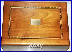 Cigar Humidor Box Robert Mcculloch Chainsaw London Bridge Wood Inlay RPM Vintage