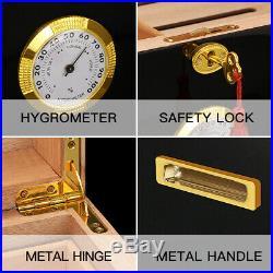 Cigar Humidor Box Wood Spanish Cedar Cabinet Luxury With Hygrometer Humidifier