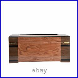 Cigar Humidor Classic Wood Grain DoubleLayer LargeCapacity Cigars Storage Box