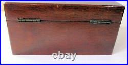 Cigar Humidor / box in figured mahogany A very high quality product cedar lined