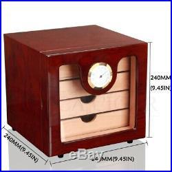Cigars Case Cedar Wood Humidor Set Humidifier & Hygrometer Rich Men Storage Box