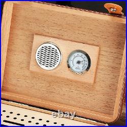 Cohiba 25cts Cigar Humidor Humidifier Cedar Wooden Black Storage Box Hygrometer
