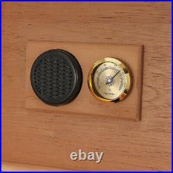 Cohiba 30+ Count Cigar Humidor Box Cabinet Humidifier Hygrometer Ashtray Cutter