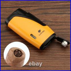 Cohiba 4ct Leather Cigar Case Box Humidor Cigar lighter Cutter Travel Set Gift