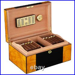 Cohiba 80-100cts Cigar HumIdor Cigars Storage Box Case with Humidifier Hygrometer