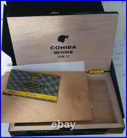 Cohiba Behike BHK 52 Empty Wooden Box Humidor Velvet Cover & Carton New