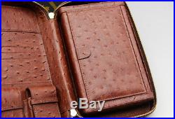 Cohiba Brown Cedar Wood 4 Tube Travel Cigar Case Humidor Holder