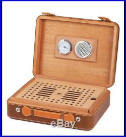Cohiba Brown Classic Cerdar Wood Travel Cigar Case Humidor Box 25-40 Counts