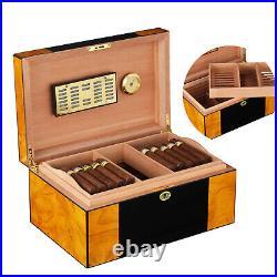 Cohiba Cigar HumIdor 80-100cts Cigars Storage Box Case with Humidifier Hygrometer