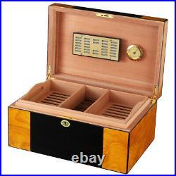 Cohiba Cigar HumIdor Storage Box 80-100cts Cigars Case With Humidifier Hygrometer