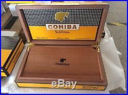 Cohiba Humidor Box Spanish Cedar Humidifier Hygrometer Gloss Holds 75 Brand New
