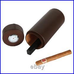 Cohiba Travel Leather Cigar Case Tube Humidor Box Humidifier 4-6Ct With Gift Box