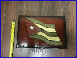 Cuba Themed Wooden Cigar Humidor Box With Hygrometer