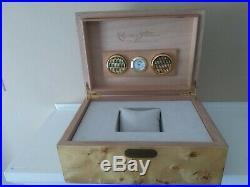Cuervo y Sobrinos NEW humidor watch box, dual cigar holder, wallet and tablet