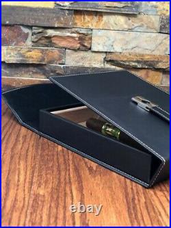 Customize Cigar Travel Humidor luxury leather velvet box