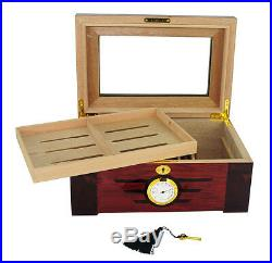 Defect Hand Made 100 Count Cigar Humidor Box Wooden Humidifer Hygrometer W