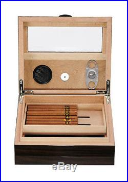 Defects Hand Made 50+ Count Cigar Humidor Box Cabinet Humidifier Hygrometer 15