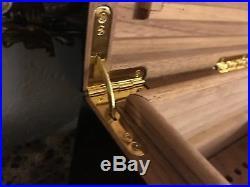Dome Treasure Box Cigar Humidor Lined With Spanish Cedar Piano Finish (RARE)