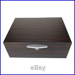 Double Layer Cigar Humidor Box High-Quality Cedar Wood Cigar Case Large Capacity