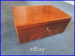 Dunhill Burr Walnut Cigar Humidor Box -delightful Superb Example