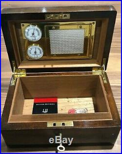 Dunhill Lockable Desktop Cigar Humidor Cigar box