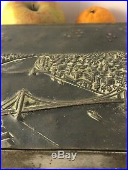 EDWARDIAN 6x7x2 800 silver Hungarian CREST STORYTELLER HUMIDOR BOX JL 070318fAH