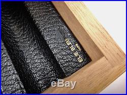 ELIE BLEU Box for 21 pens Natural Sycamore, Made in France, Paris 10 x 24 x 18cm