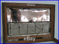 Early 1900s Oak Tabletop Cigar Tobacco Humidor Chest Box 054B