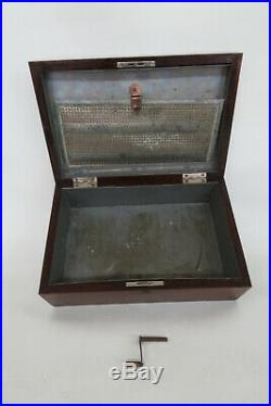 Early 1900s Solid Mahogany Tabletop Cigar Tobacco Humidor Chest Box 2366B
