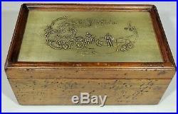 El Plantador Distressed Wood Tin Top Cork Lined Cigar Box Humidor EUC