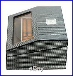 Elegant 50+ Count Cigar Humidor Box Cabinet Mahogany Humidifier Hygrometer 16