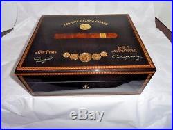 Elie Bleu Medals Black Sycamore Humidor 75 Count new in original box