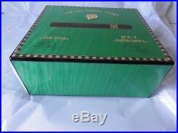 Elie Bleu Medals Pistachio Green Sycamore Humidor 50 Ct new in original box