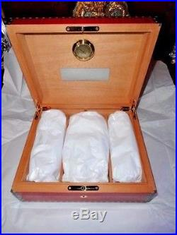 Elie Bleu Medals Red Sycamore Humidor 75 Count new in original box