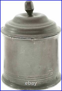 English Pewter Tobacco Jar