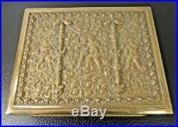 Erhard & Sohne Jugendstil Art Nouveau Bronze Jewelry Humidor Cigar Box Cherubs
