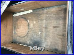 Etched Silverplate Antique Cigar Humidor Wooden Interior Box Signed J & F HELP