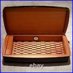 Fabulous Swiss Cigar Humidor & 10 Watches Storage / Display Box Limited Case